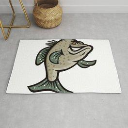 Crappie Fish Standing Mascot Rug