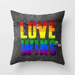 Love Wins Art Throw Pillow
