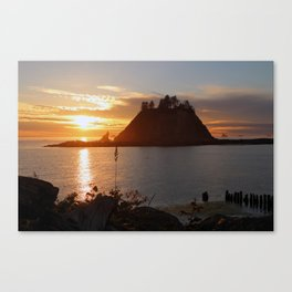 An Amazing Sunset Over First Beach Canvas Print