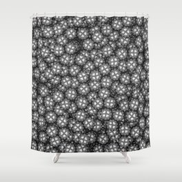 Poker chips B&W / 3D render of thousands of poker chips Shower Curtain