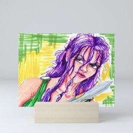 Halie the Nereid Mini Art Print