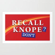 Recall Knope Art Print