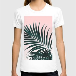 Modern tropical palm tree photography pastel pink ombre gradient T-shirt