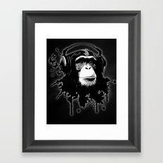Monkey Business - Black Framed Art Print