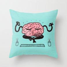 Train Your Brain Throw Pillow