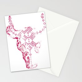Steer Red/White Stationery Cards