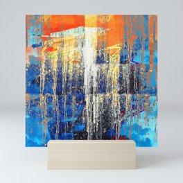Golden Dawn, Abstract Landscape Art Mini Art Print