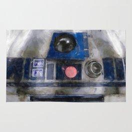 R2D2 Droid Robot StarWars Rug