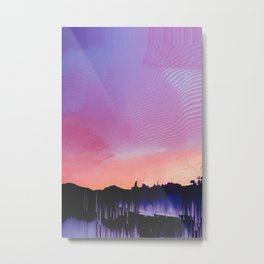 Glitched Landscapes Collection #7 Metal Print