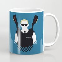 hot fuzz Mugs featuring Here Come The Fuzz by Byway