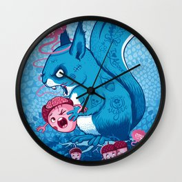 Zombie Squirrel Wall Clock
