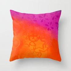 From orange to purple Throw Pillow
