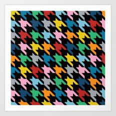 Dogtooth New on Black Art Print