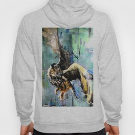 The Hunt. Great Horned Owl. owl painting Hoody
