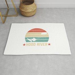 Hood River  TShirt Kite Boarding Shirt Kite Surfing Gift Idea Rug