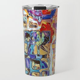 Abstract Glass Blocks Travel Mug
