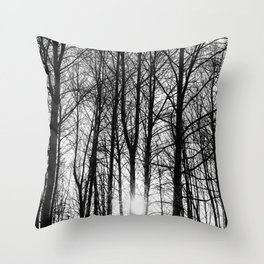Sun behind the trees Throw Pillow