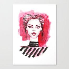 watercolor portrait  Canvas Print