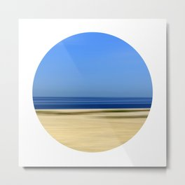 Beach Abstract One Metal Print