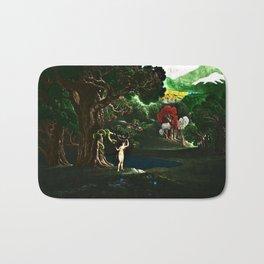 Satan Tempting Even in the Garden of Eden Landscape Painting by Jeanpaul Ferro Bath Mat