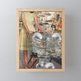 (Disco)unt Supermarket Framed Mini Art Print