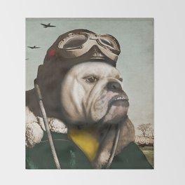 "Wing Commander, Benton ""Bulldog"" Bailey of the RAF Throw Blanket"