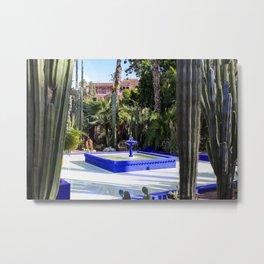 Majorelle Garden, Marrakech Morocco Metal Print
