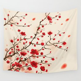 Oriental plum blossom in spring 006 Wall Tapestry