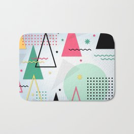 Abstract Christmas Bath Mat