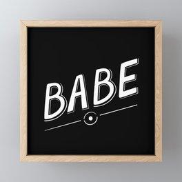 Babe Simple Handlettering Framed Mini Art Print