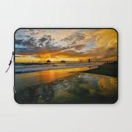 Sunset ~ Huntington Beach Pier Laptop Sleeve