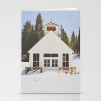 elmo Stationery Cards featuring St. Elmo Town Hall by Carrie Baker