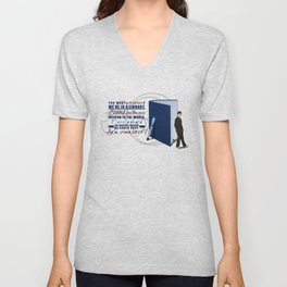 Books are the best weapon in the world Unisex V-Neck