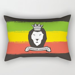 Rasta Lion Rectangular Pillow