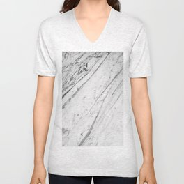 Classic White Marble #2 #decor #art #society6 Unisex V-Neck