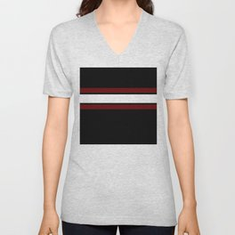 Team Colors...Maroon and white stripeswith black Unisex V-Neck