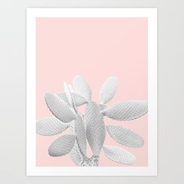 White Blush Cacti Vibes #1 #plant #decor #art #society6 Art Print