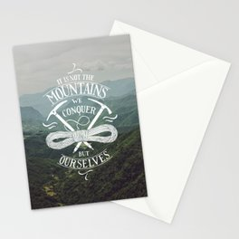 Hiking motivational quote Stationery Cards