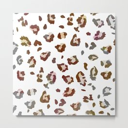 Light Leopard Metal Print