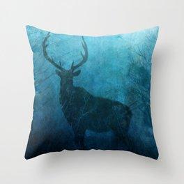 Spirit Elk Silhouette Throw Pillow