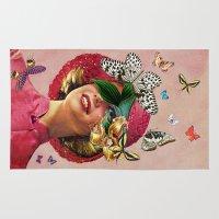 eugenia loli Area & Throw Rugs featuring Chrysalis by Eugenia Loli