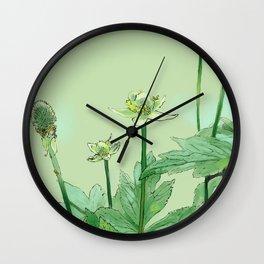 Unknown Flora I Wall Clock