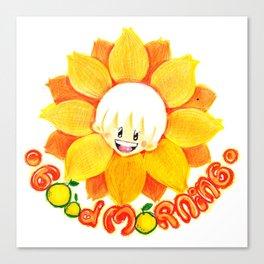 good morning sunflower boy Canvas Print
