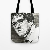 will graham Tote Bags featuring Will Graham by Pruoviare