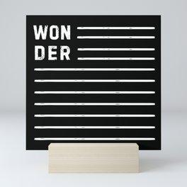 WONDER STRIPES (black) Mini Art Print