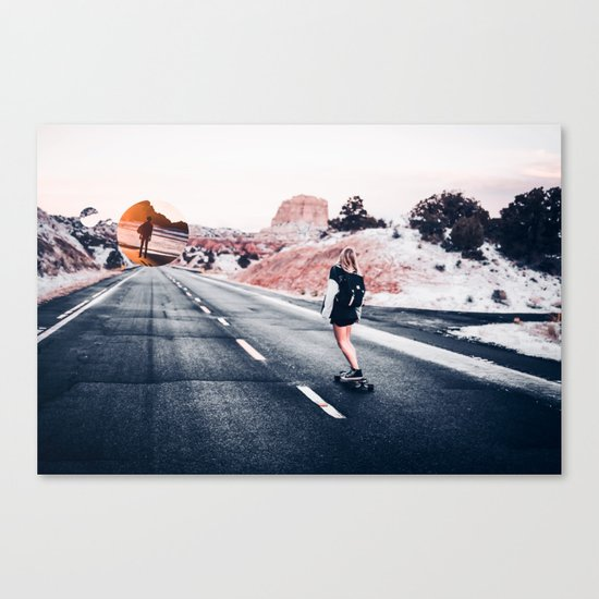 chase your dreams 2 Canvas Print