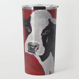 Cowabunga Cow painting Travel Mug