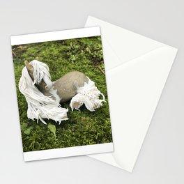Gold Glitter Gypsy Vanner Stationery Cards