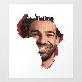 MO Salah Art Print