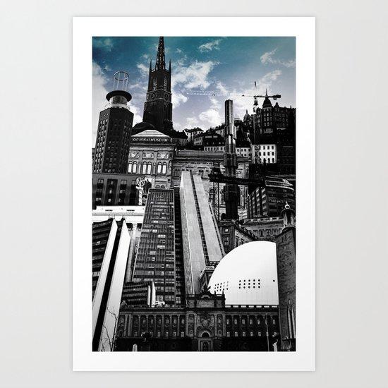Urban Stockholm Art Print
